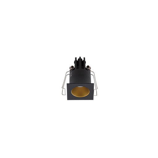 3W BLACK/GOLD 3000K WARM WHITE MINI SQUARE DARK LIGHT L44 x W44 x H70mm - The Lighting Shop