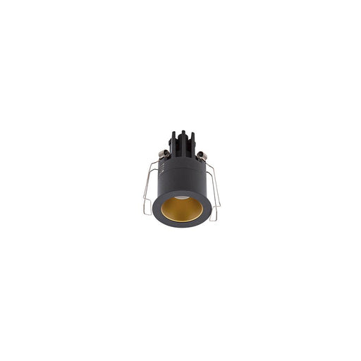 3W BLACK/GOLD 3000K WARM WHITE MINI ROUND DARK LIGHT D44 x 70mm - The Lighting Shop