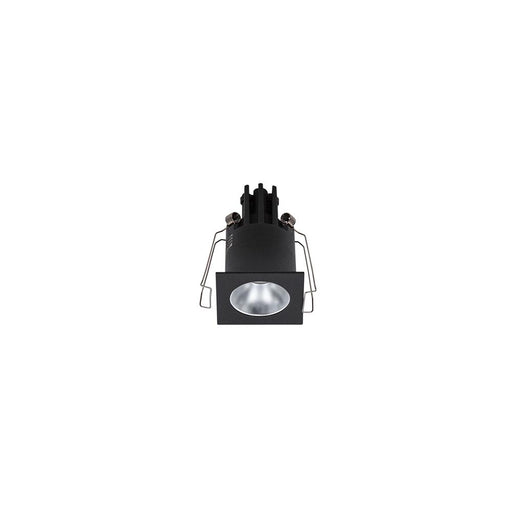 3W BLACK/SILVER 3000K WARM WHITE MINI SQUARE DARK LIGHT D44 x 70mm - The Lighting Shop