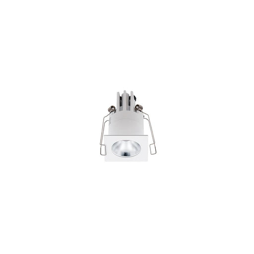 3W WHITE/SILVER 3000K WARM WHITE MINI SQUARE DARK LIGHT L44 x W44 x H70mm - The Lighting Shop