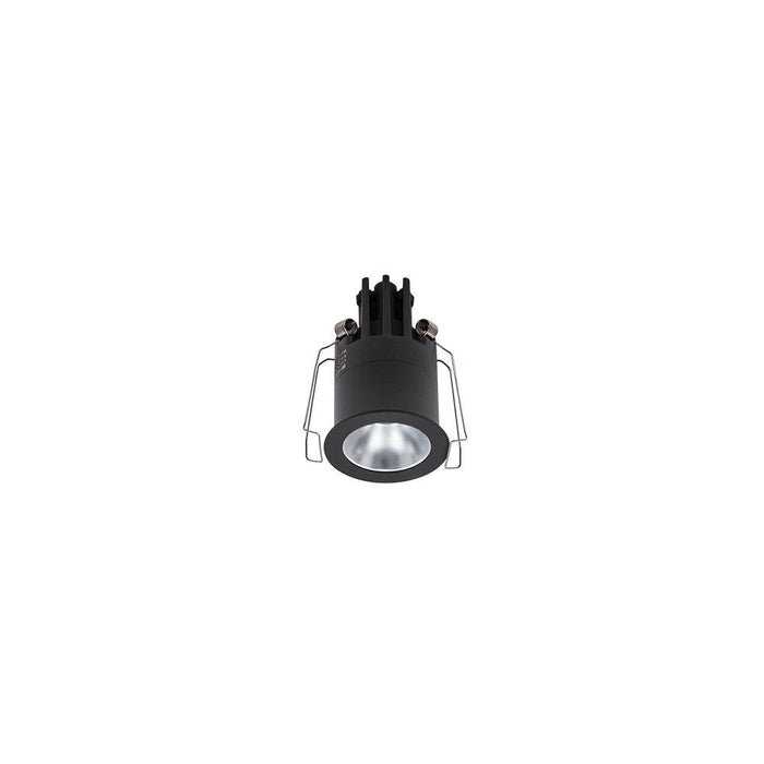 3W BLACK/SILVER 3000K WARM WHITE MINI ROUND DARK LIGHT D44 x 70mm - The Lighting Shop