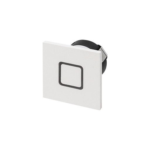 1.05W MINI SQUARE GLOW Square Effect 3000K Warm White, Cut Out 35mm - WHITE - The Lighting Shop