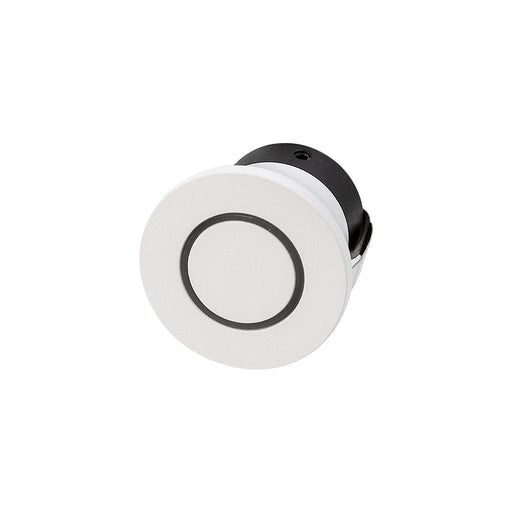 1.05W MINI ROUND GLOW Round Effect 3000K Warm White, Cut Out 35mm - WHITE - The Lighting Shop