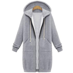 Women's Long Zip Sweatshirt Hoodie - Best Seller - Black Friday Special - Deal Ends Soon