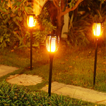 Solar Flame Flickering Lamp Torch - Best Seller - Black Friday Special - Deal Ends Soon