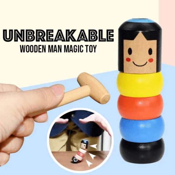 Unbreakable Sturdy Steve Wooden Toy
