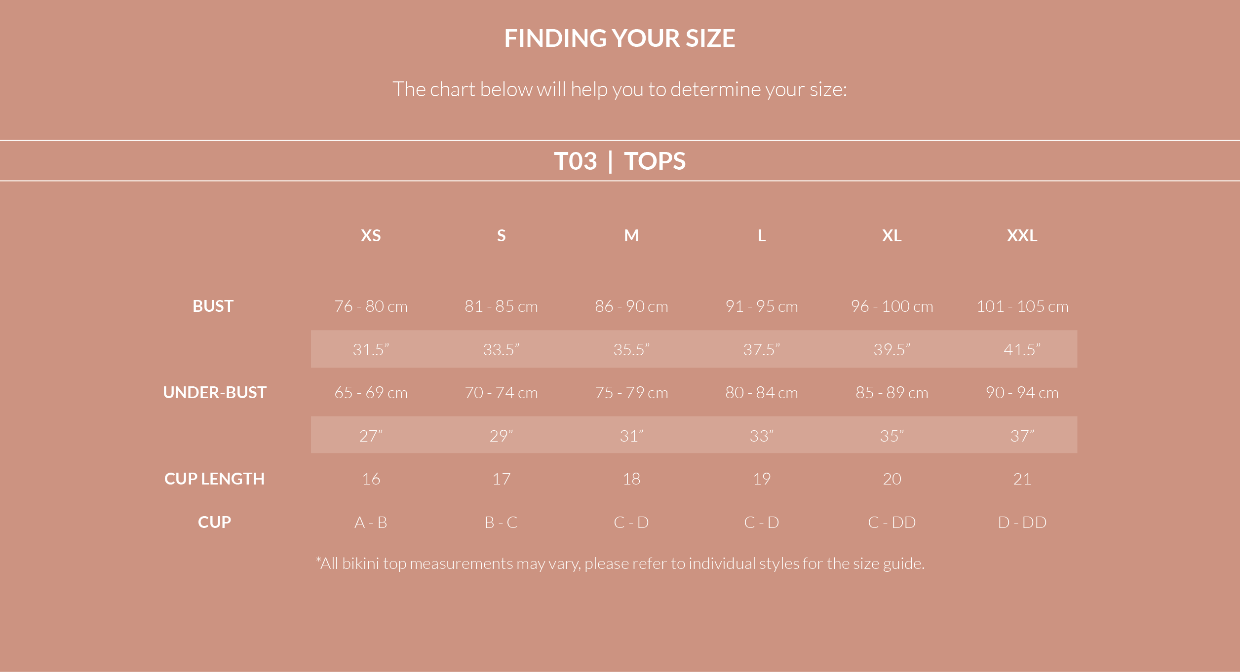 Size Guides