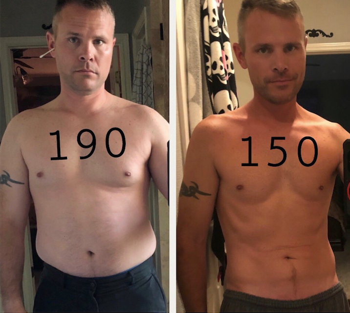 Updated pic from Eric, who's now down 40 pounds!
