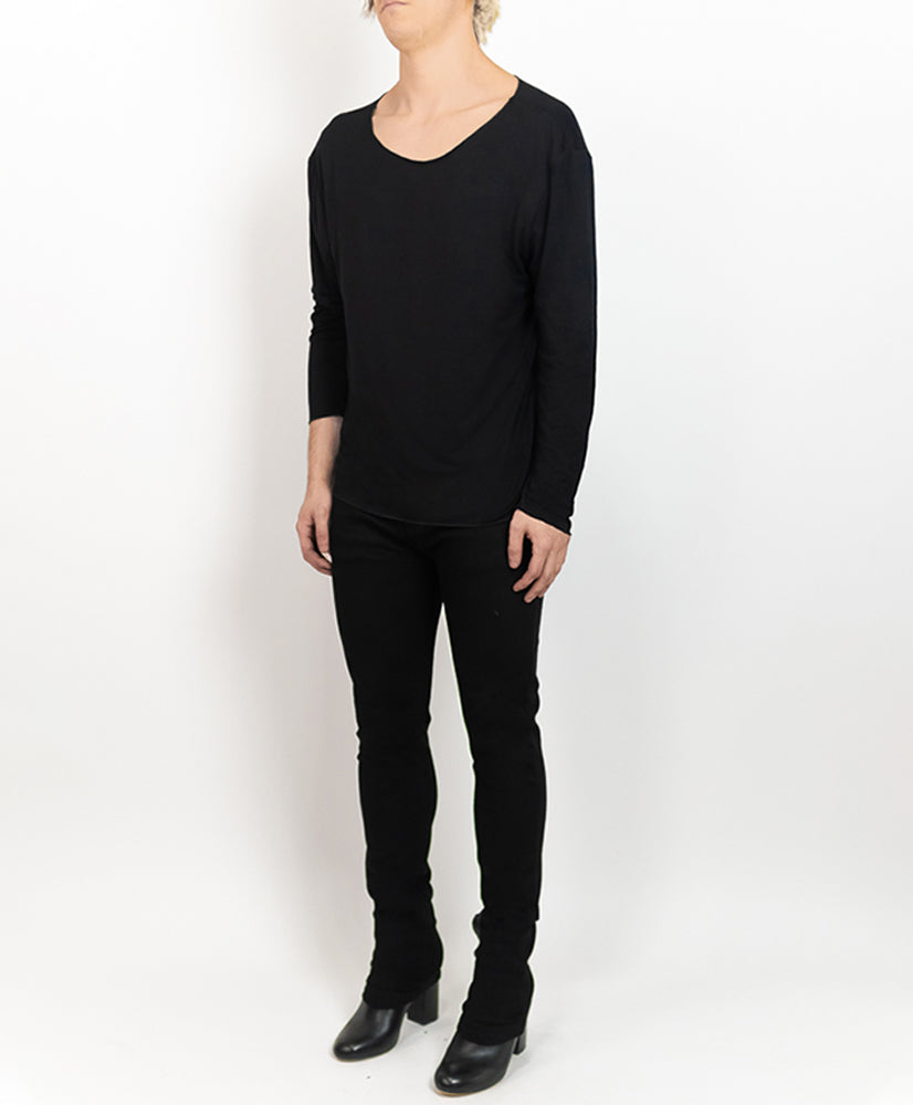 Feather LS Shirt Black - M120810HYB
