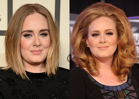 Adele Without and With a Wig
