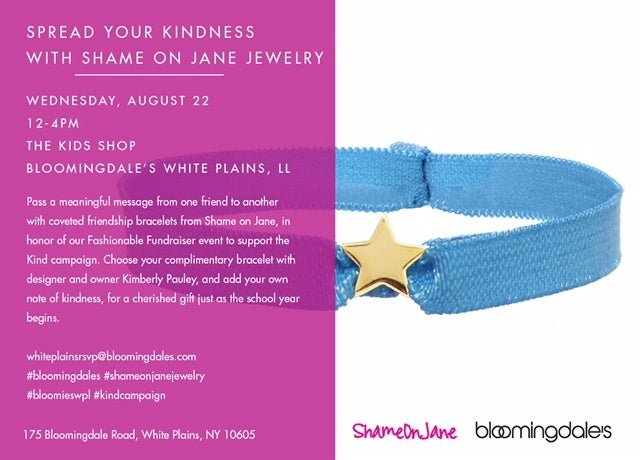 Bloomingdales and Shame On Jane Join Forces to End Bullying
