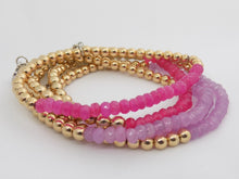 Purple and Gold Georgia Bracelet