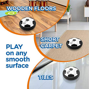 Let Loose Moose Hover Soccer Ball – Set of 2 - Indoor Hover Ball with LED Lights and Soft Foam Bumpers to Protect Furniture – Best Kids Toys Fútbol for 2-16 Year Old Boys and Girls.