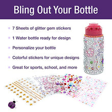 Purple Ladybug Decorate Your Own Water Bottle for Girls with Tons of Rhinestone Glitter Gem Stickers! BPA Free, 20 oz Kids Water Bottle Craft Kit - Cute Girl Gift, Fun DIY Easter Arts & Crafts