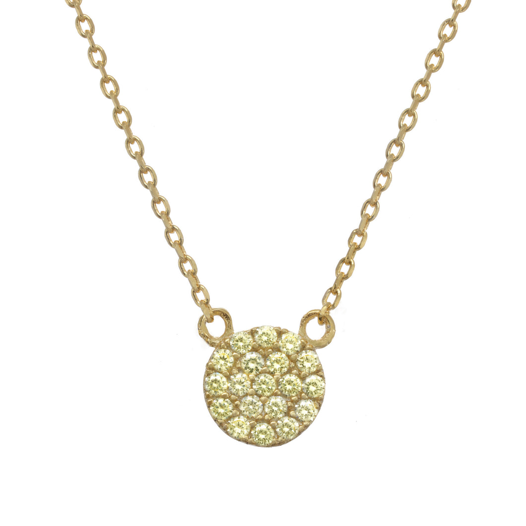 Gold yellow pave necklace