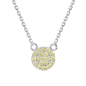 Sterling silver yellow pave necklace