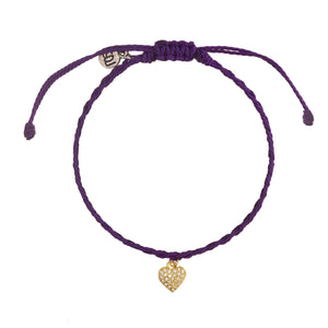 Purple Chelsea Heart Bracelet