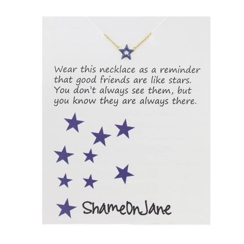 June Enamel Star Necklace