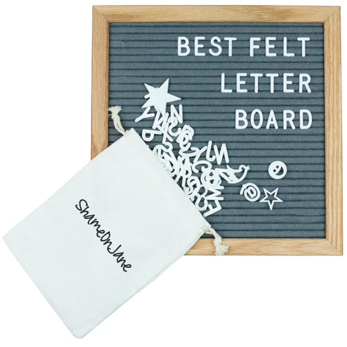 ShameOnJane Changeable 10 x10 Felt Letter Board