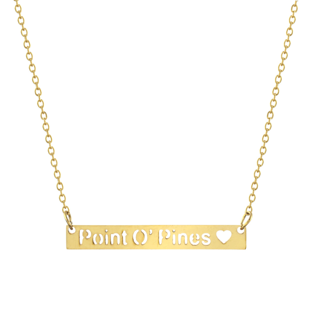 Point O' Pines Bar Necklace