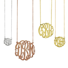 Silver Gold Monogram Necklaces