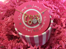 gold-plated initial charms