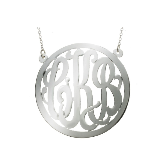 Outlined Monogram Necklace