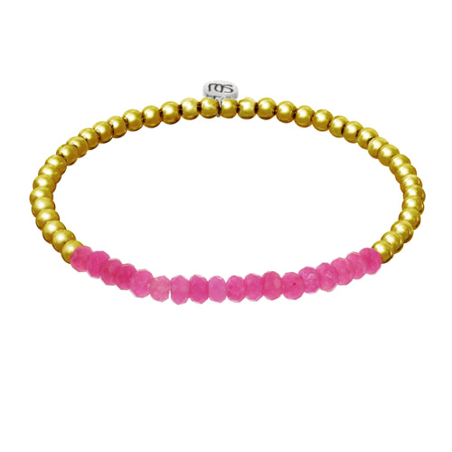 Pink and Gold Georgia Bracelet