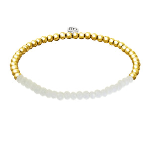 White and Gold Georgia Bracelet