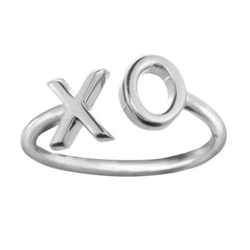 Sterling silver XO ring