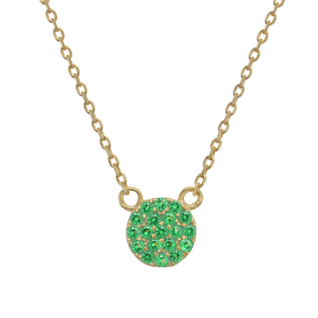 Green Pave Necklace