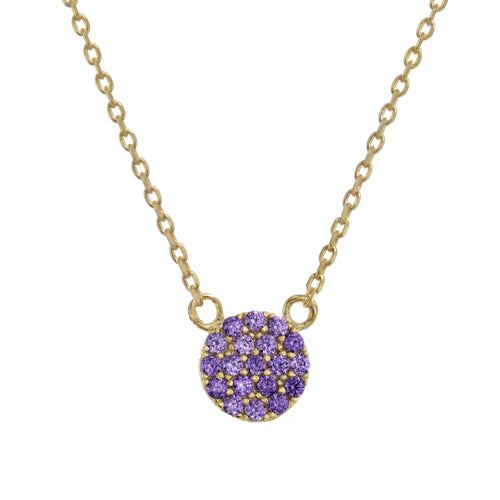 Purple Pave Necklace