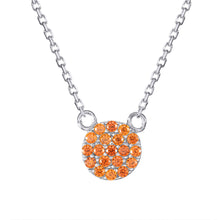 orange pave necklace