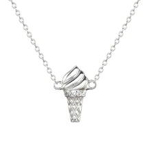 Sterling silver ice cream necklace