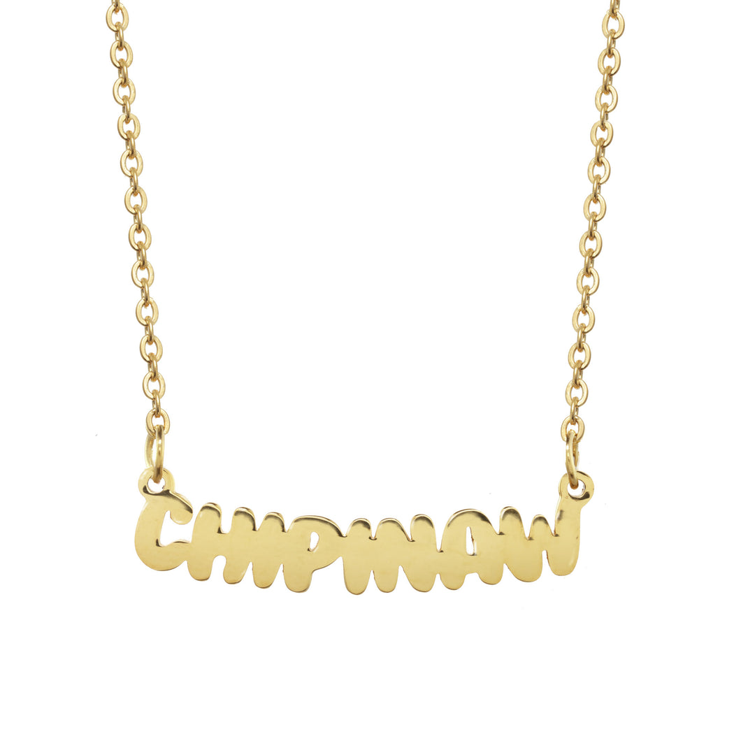 Chipinaw Camp Gold Necklace