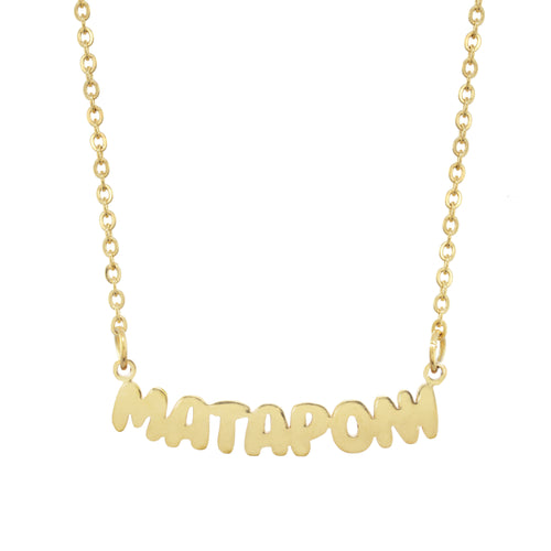 Mataponi Camp Gold Necklace