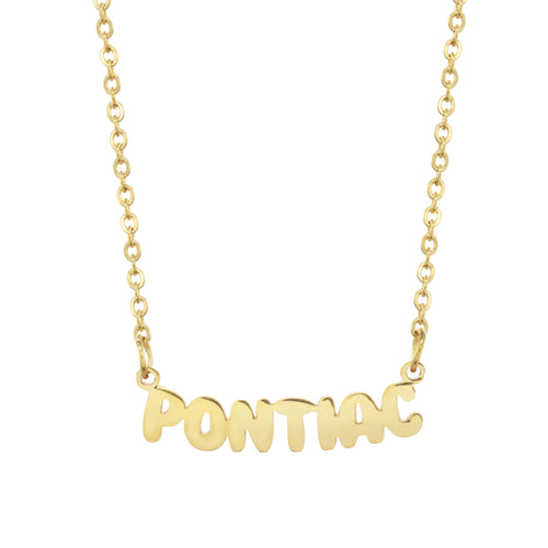 Pontiac Camp Gold Necklace