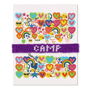 Purple Camp bracelet