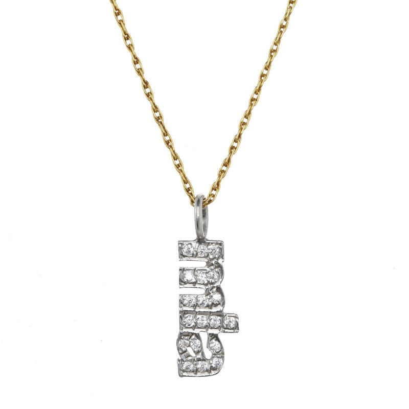 Diamond Vertical Name Necklace