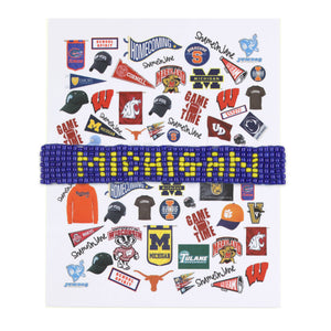Michigan Beaded Bracelet