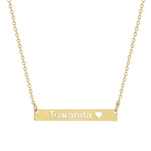 Towanda Bar Necklace