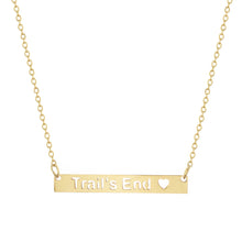 Trail's End Bar Necklace