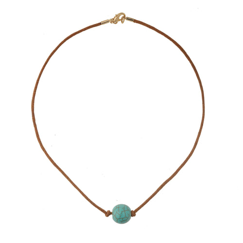 String and turquoise necklace