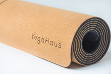 Load image into Gallery viewer, Cork Yoga Mat with Cotton Strap