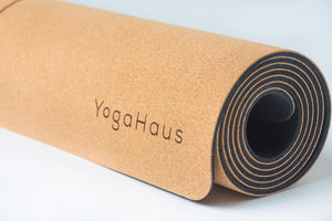 Cork Yoga Mat with Cotton Strap