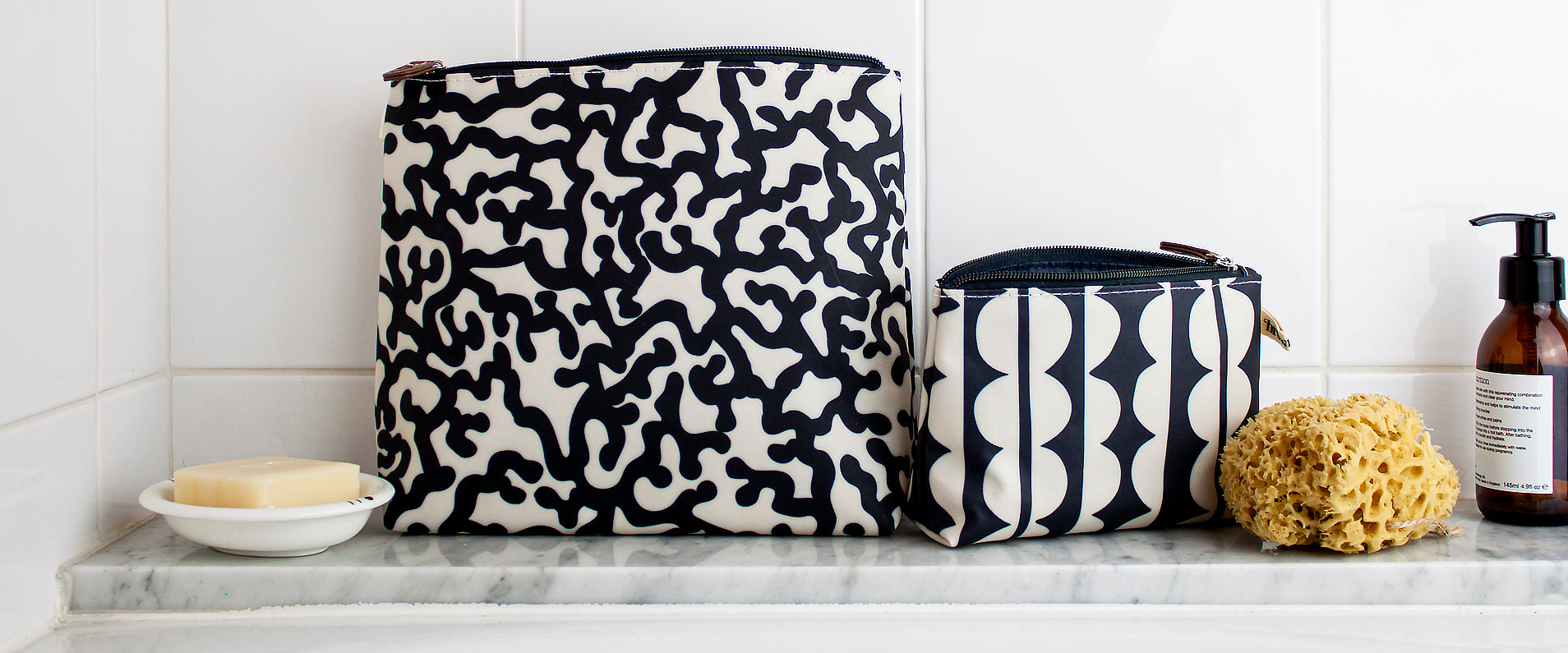 Monochrome Beauty Bags