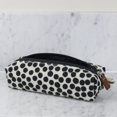 Dotty monochrome pencil case Brownstone