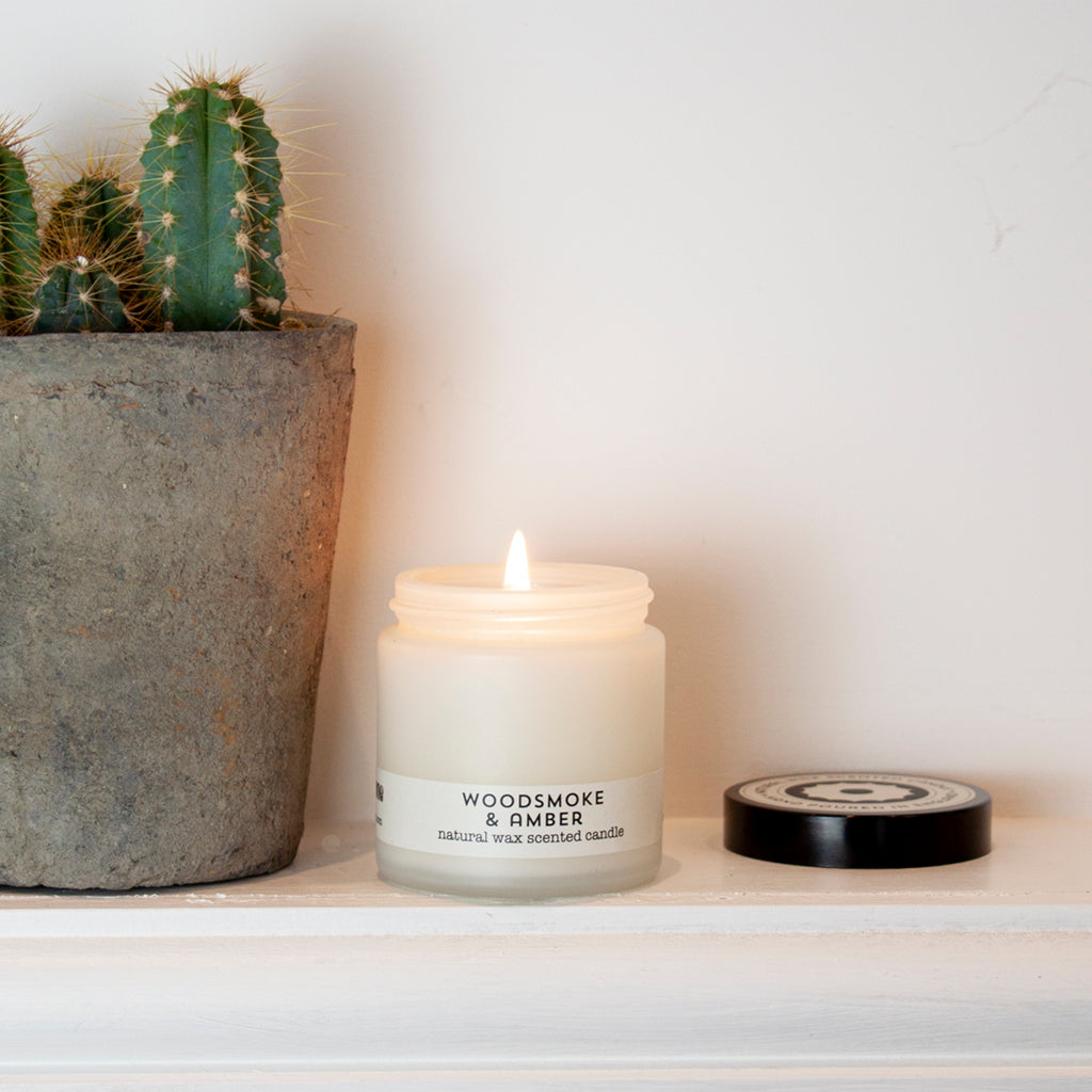 Woodsmoke & Amber travel candle