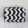 Monochrome zig zag wash bag