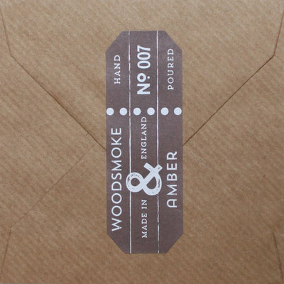 Woodsmoke & Amber fragrance card